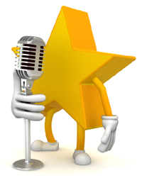 Star-at-Microphone